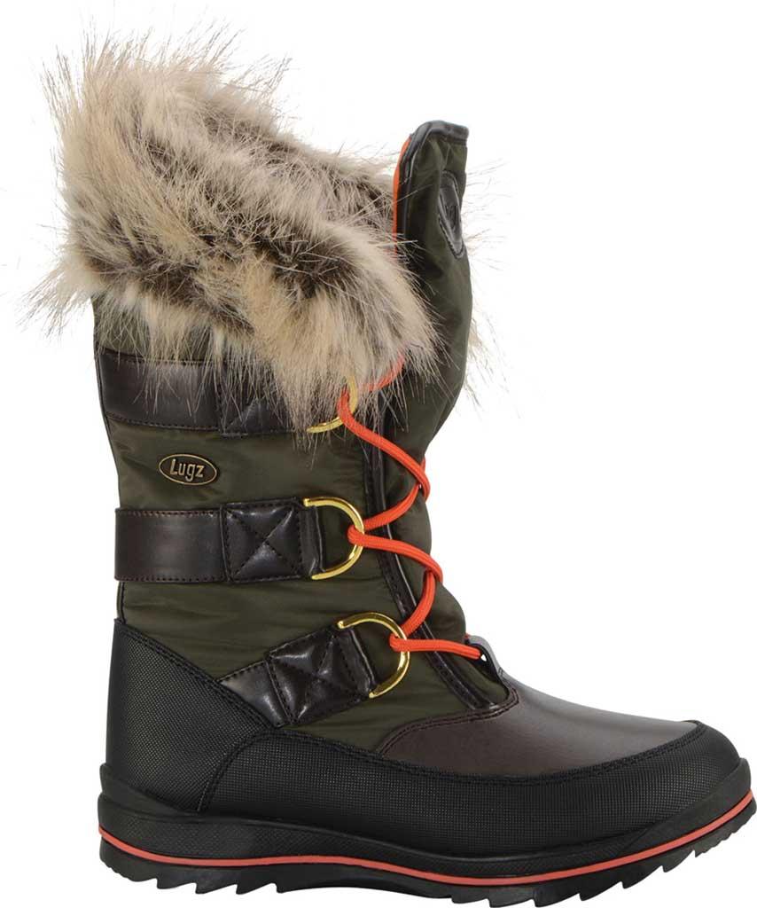 Women's Lugz Tundra Winter Boot, Dark Brown/Olive/Orange/Black Synthetic Nubuck, large, image 2
