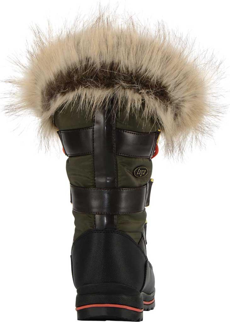 Women's Lugz Tundra Winter Boot, Dark Brown/Olive/Orange/Black Synthetic Nubuck, large, image 4