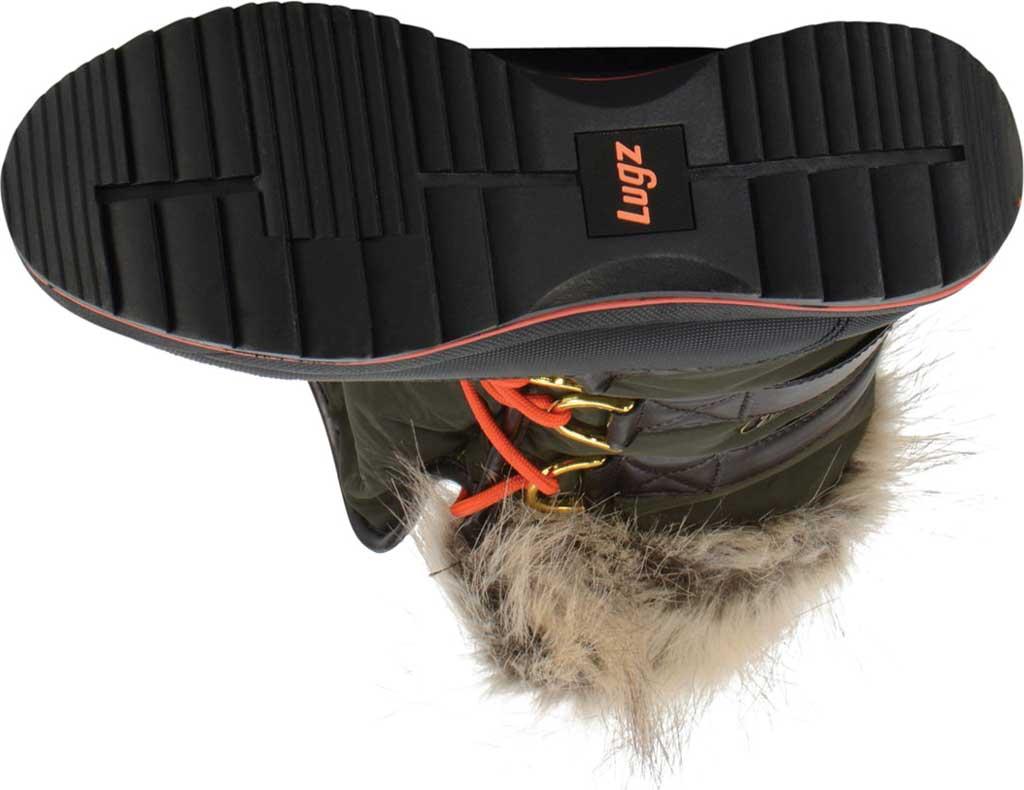 Women's Lugz Tundra Winter Boot, Dark Brown/Olive/Orange/Black Synthetic Nubuck, large, image 6