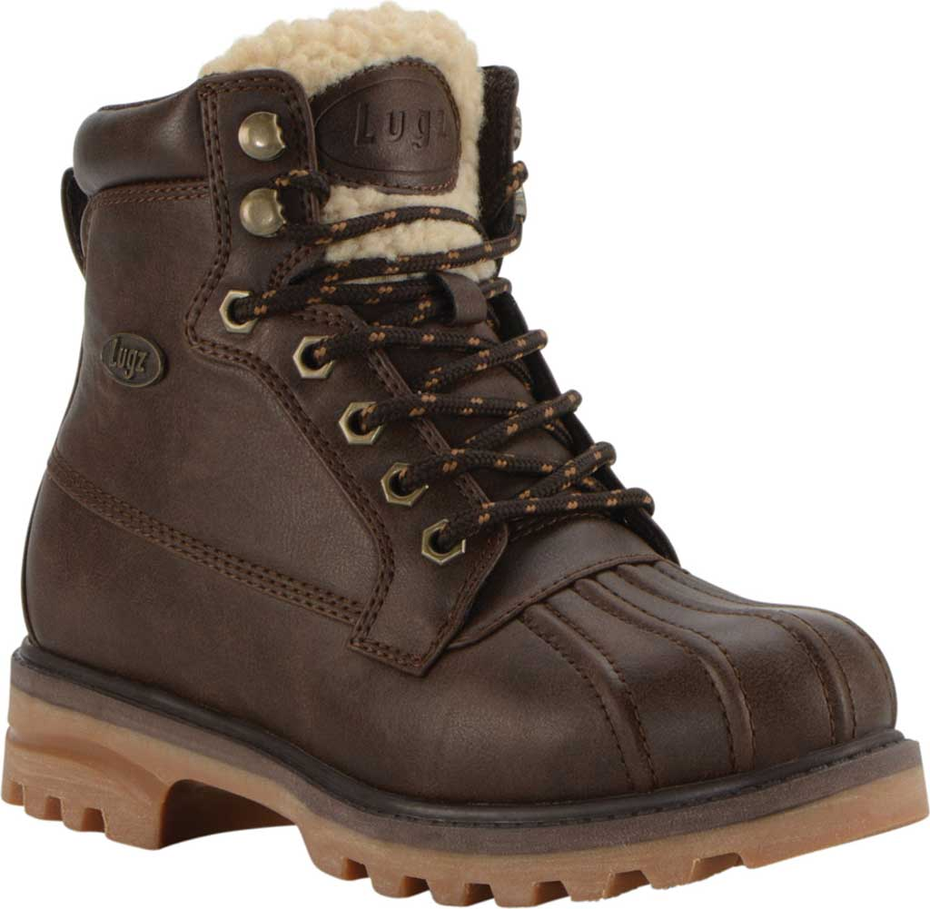 Women's Lugz Mallard Duck Boot, Coffee Bean/Cream/Gum Synthetic Leather, large, image 1