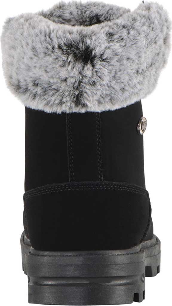 Children's Lugz Empire HI Fur Work Boot Grade School, Black Synthetic Nubuck, large, image 4