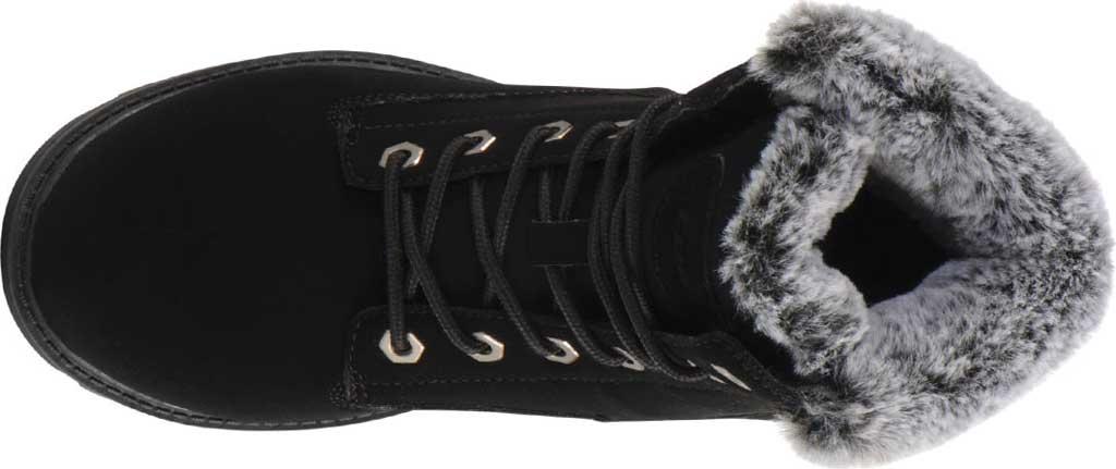 Children's Lugz Empire HI Fur Work Boot Grade School, Black Synthetic Nubuck, large, image 5