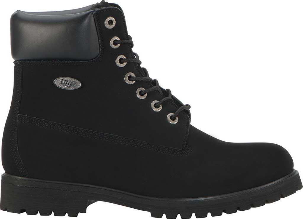 "Men's Lugz Convoy 6"" Boot, Black Synthetic Nubuck, large, image 2"