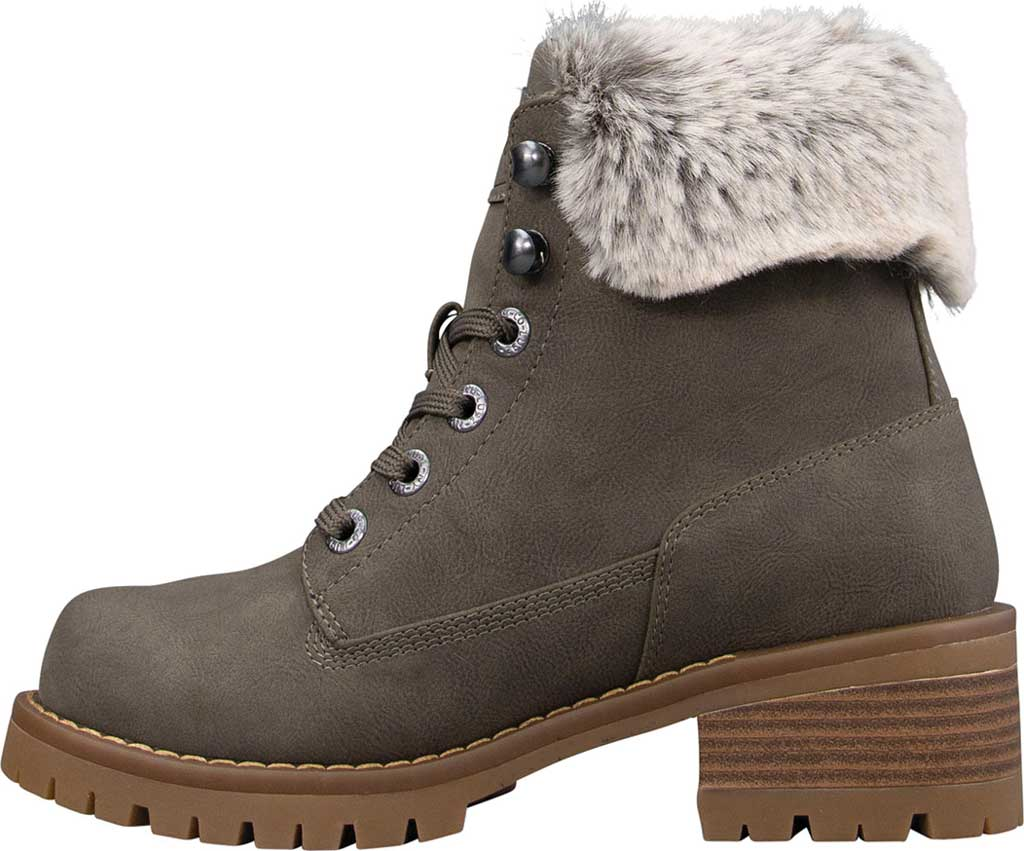Women's Lugz Flirt Hi Fur Ankle Bootie, Woodland/Mire/Gum Durabush, large, image 3