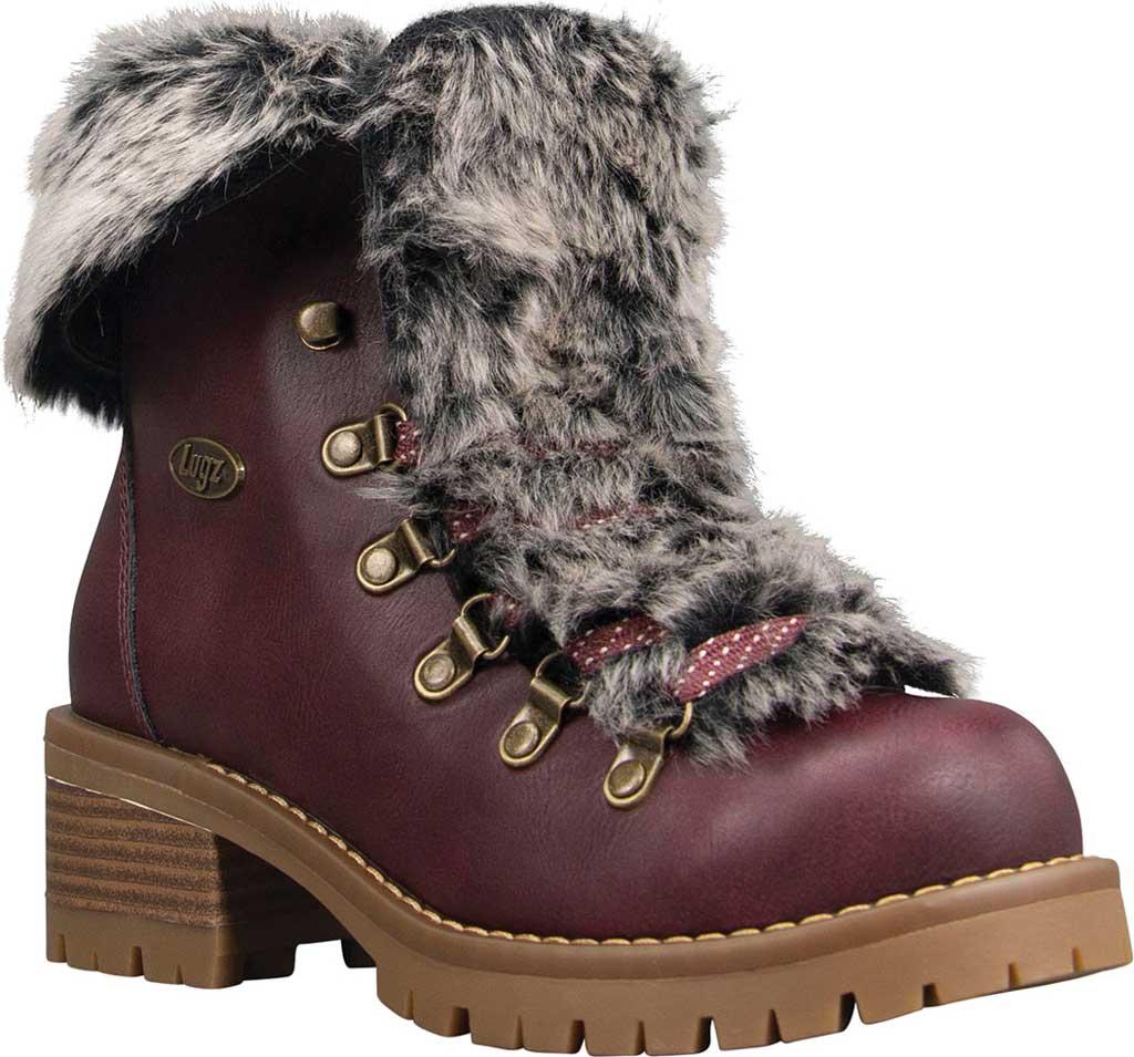 Women's Lugz Adore Fur Ankle Bootie, Wine/Gum Perma Hide, large, image 1