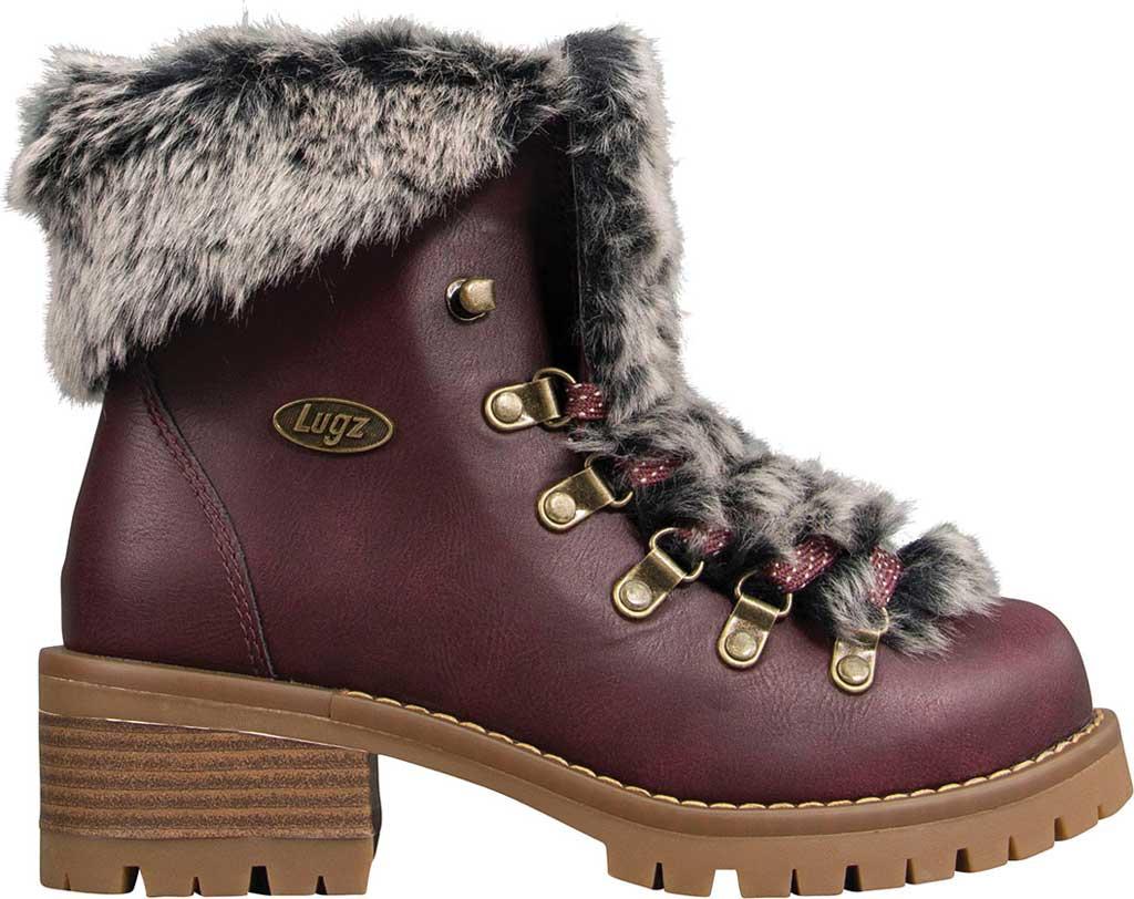 Women's Lugz Adore Fur Ankle Bootie, Wine/Gum Perma Hide, large, image 2