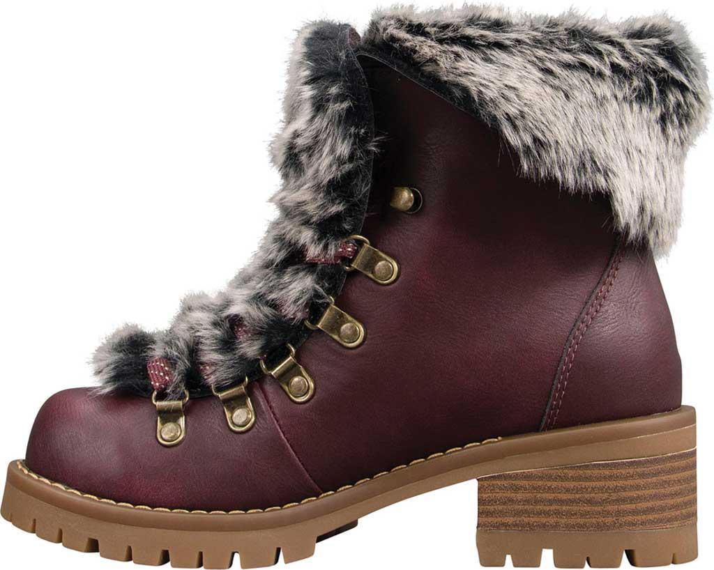 Women's Lugz Adore Fur Ankle Bootie, Wine/Gum Perma Hide, large, image 3