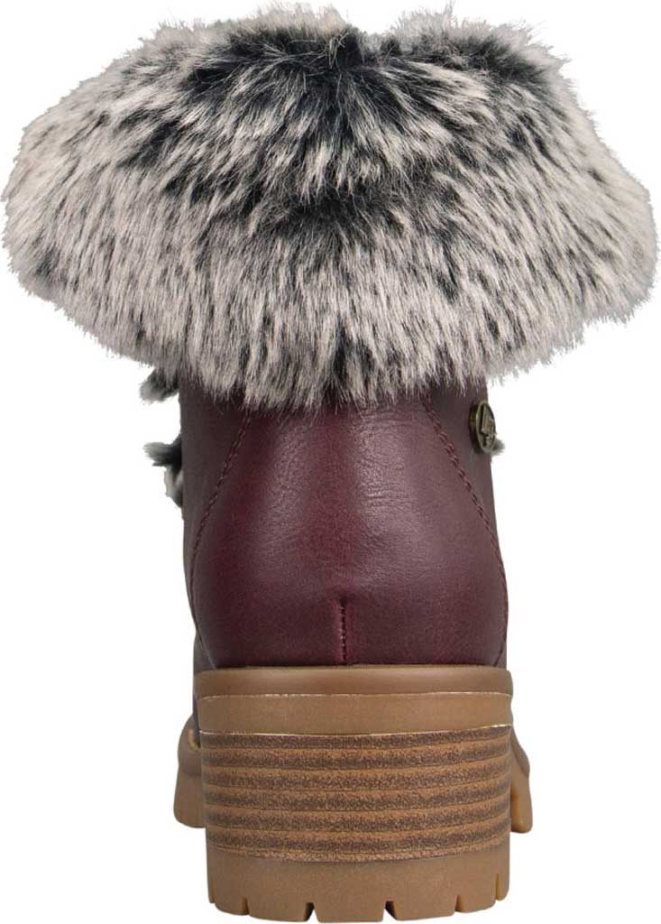 Women's Lugz Adore Fur Ankle Bootie, Wine/Gum Perma Hide, large, image 4