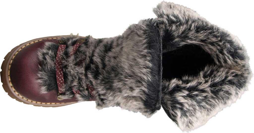 Women's Lugz Adore Fur Ankle Bootie, Wine/Gum Perma Hide, large, image 5