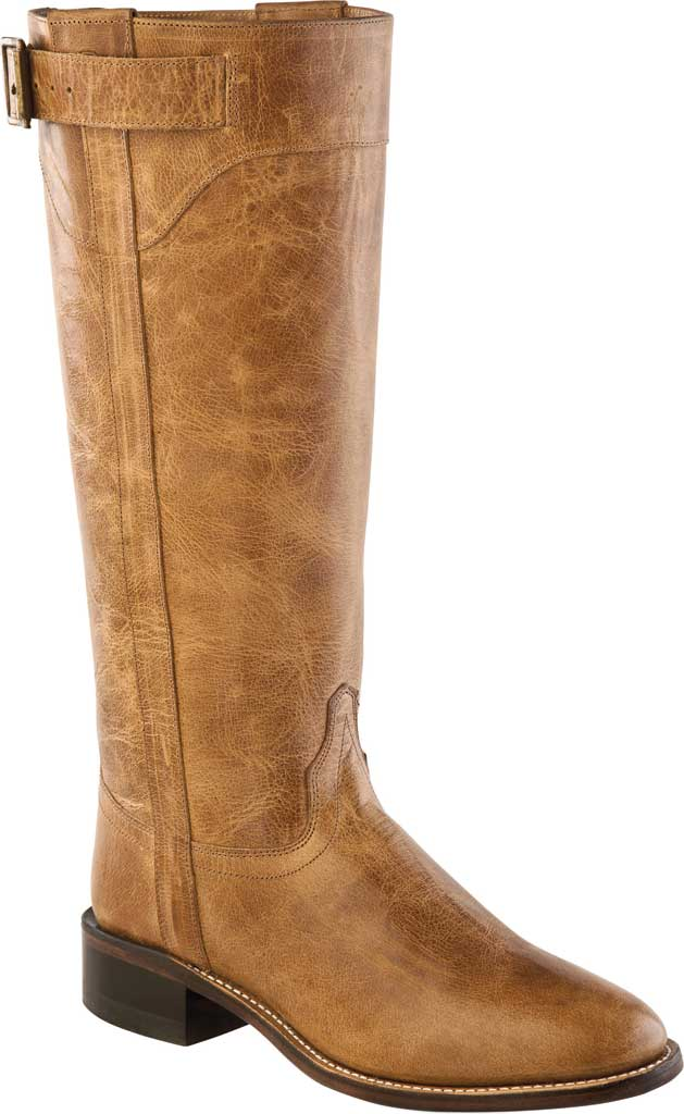 Women's Old West 14 Inch Fashion Wear Knee High Boot, Tan Fry Leather, large, image 1