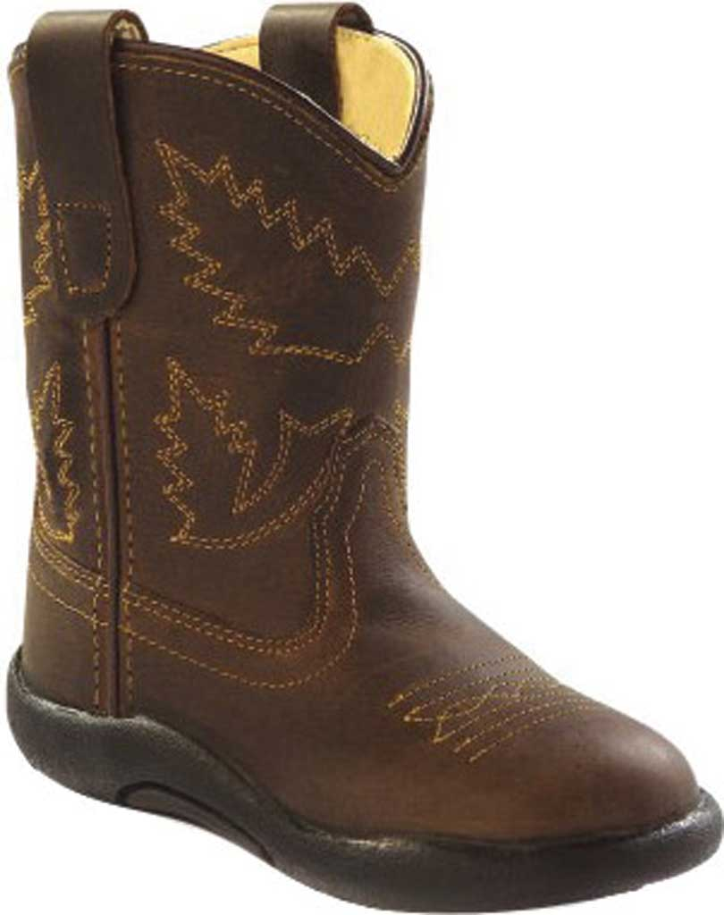 Infant Old West Broad Round Toe Boot - Toddler, Apache Leather, large, image 1