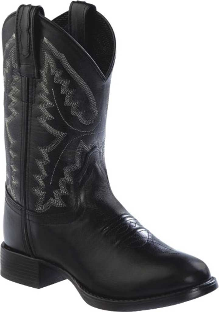 Children's Old West Ultra Flex Round Toe Boot - Child, Black Leather, large, image 1