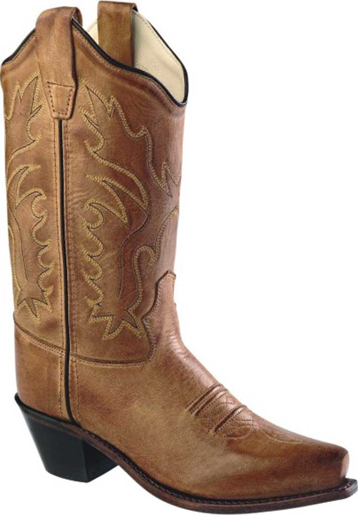 Children's Old West Western Snip Toe Fashion Boot - Child, Tan Canyon Leather, large, image 1