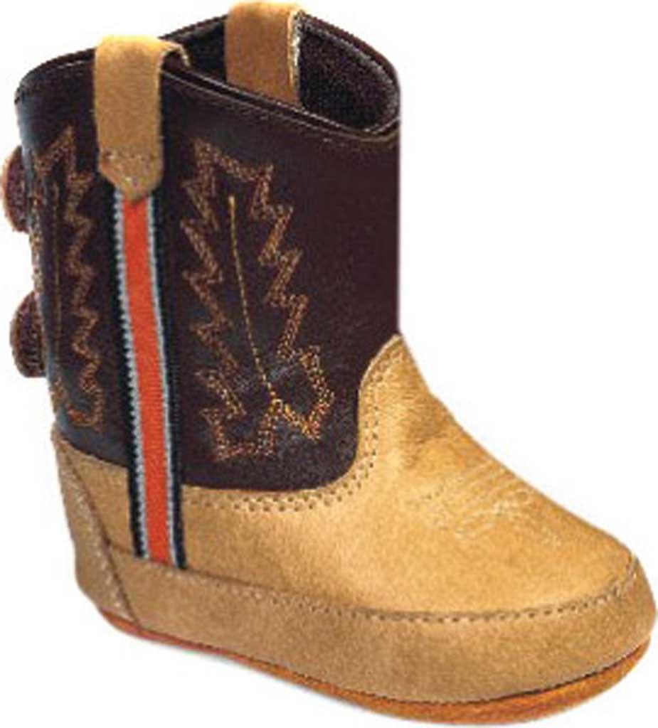 Infant Old West Poppet Western Bootie, Bazooka/Chocolate Leather, large, image 1