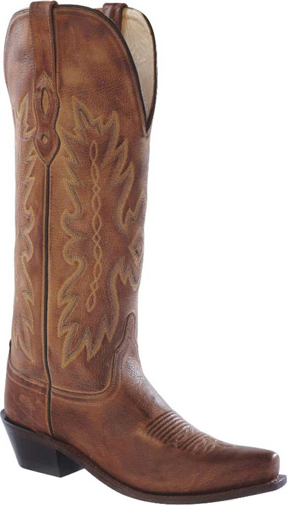 Women's Old West 14 Inch Snip Toe Fashion Wear Cowboy Boot, Tan Canyon Leather, large, image 1