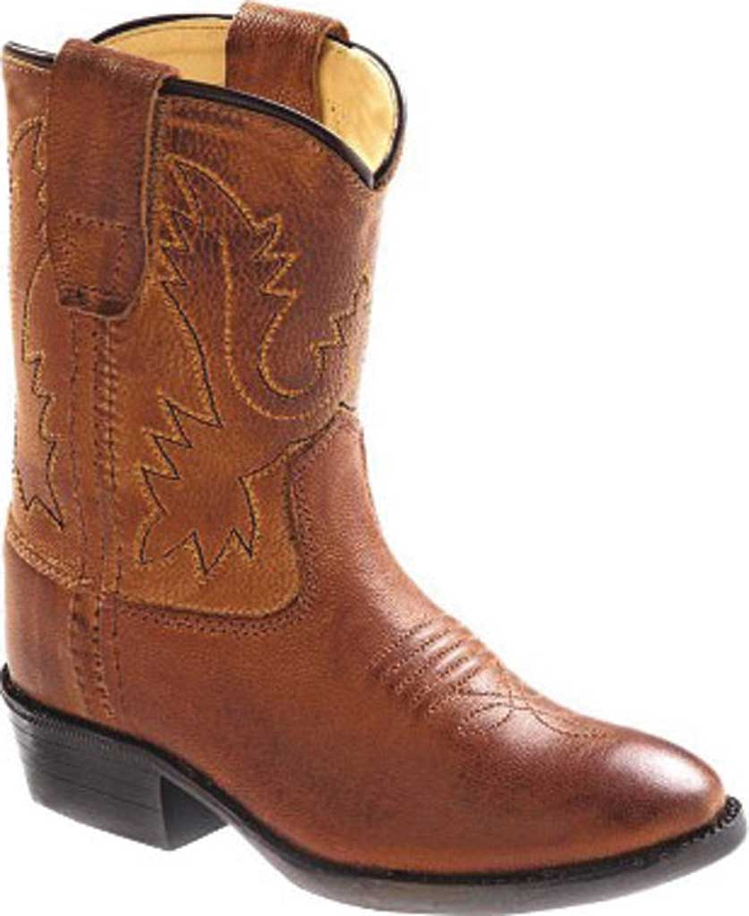 Infant Old West Fancy Stitch Round Toe Western Boot - Toddler, Tan Canyon Leather, large, image 1