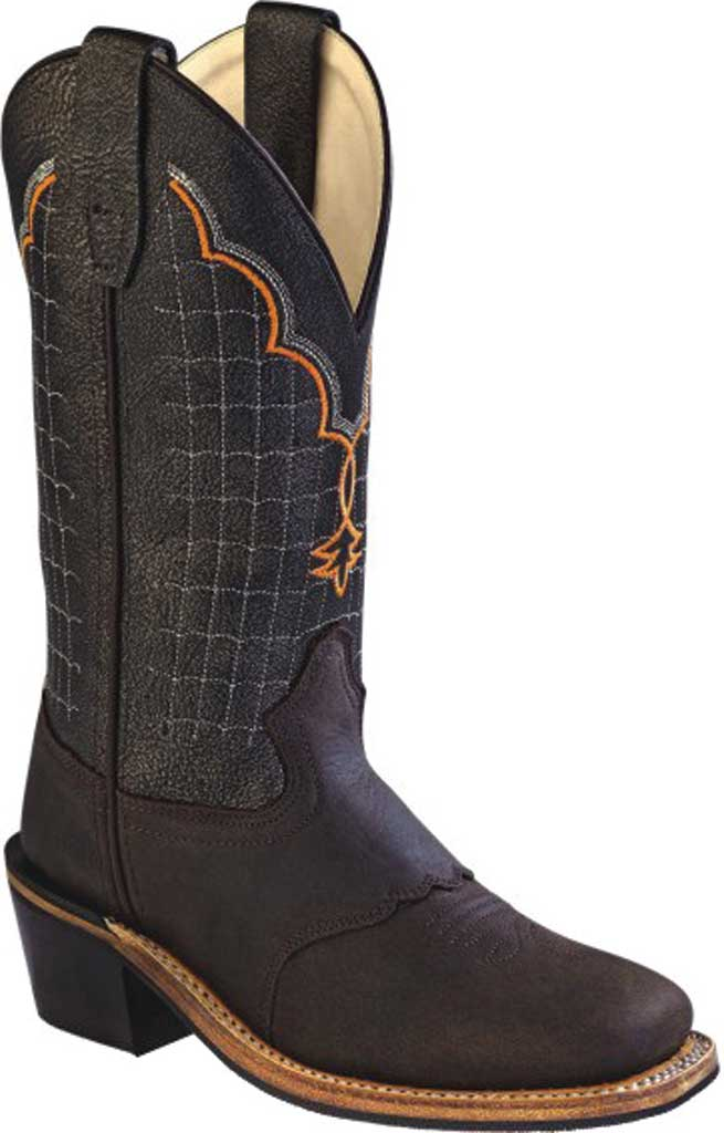 Children's Old West 10 Inch Broad Square Toe Cowboy Boot - Child, Apache/Black Brown Crackle Calfskin, large, image 1