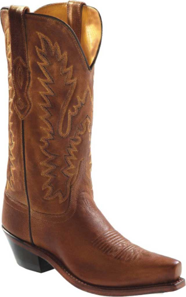 """Women's Old West 12"""" Snip Toe Fashion Wear Cowboy Boot, Tan Canyon Leather, large, image 1"""