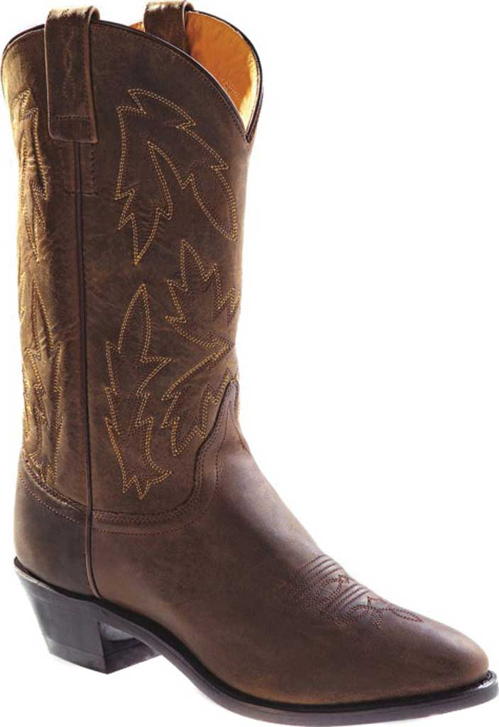 Women's Old West 11 Inch Narrow Round Toe Cowboy Boot, Apache Leather, large, image 1