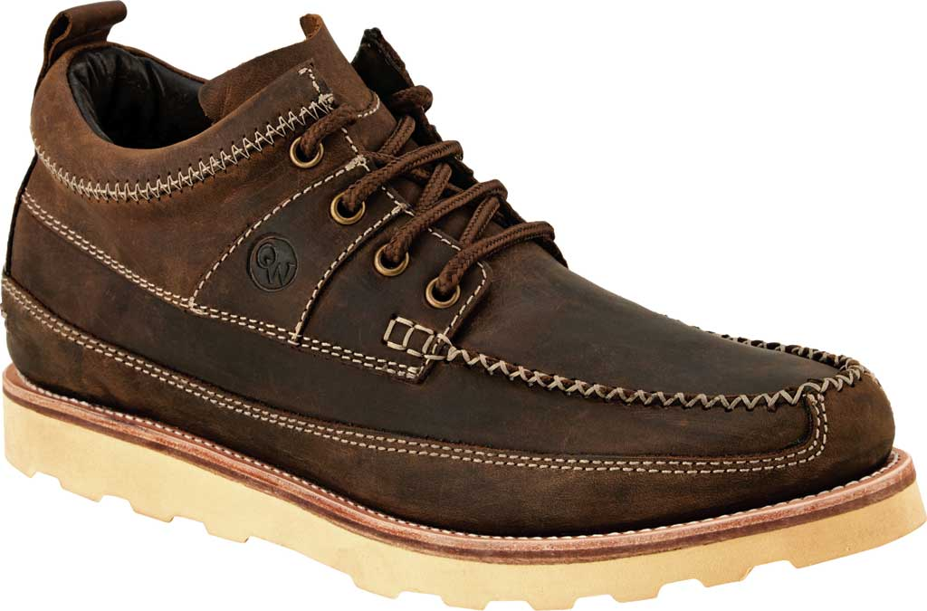 Men's Old West 3.75 Inch Lace Up Outdoor Moc, Brown Leather, large, image 1