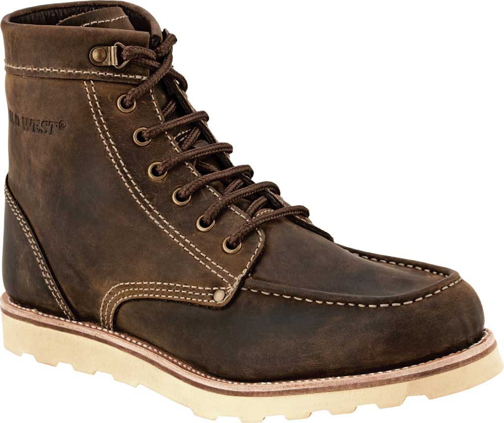 Men's Old West 6 Inch Outdoor Boot, Brown Leather, large, image 1