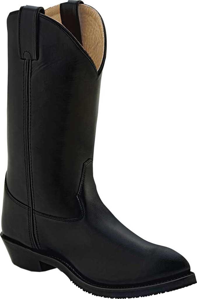 Men's Old West Uniform Western Boot, Black Leather, large, image 1