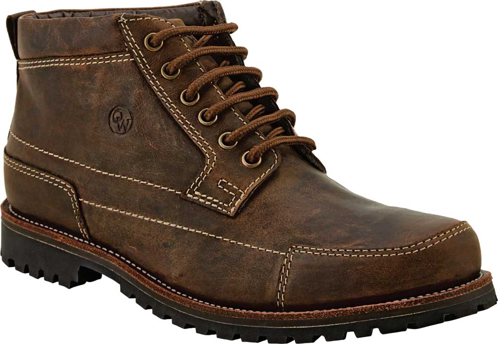Men's Old West 4 Inch Lace Up Outdoor Boot, Brown Leather, large, image 1
