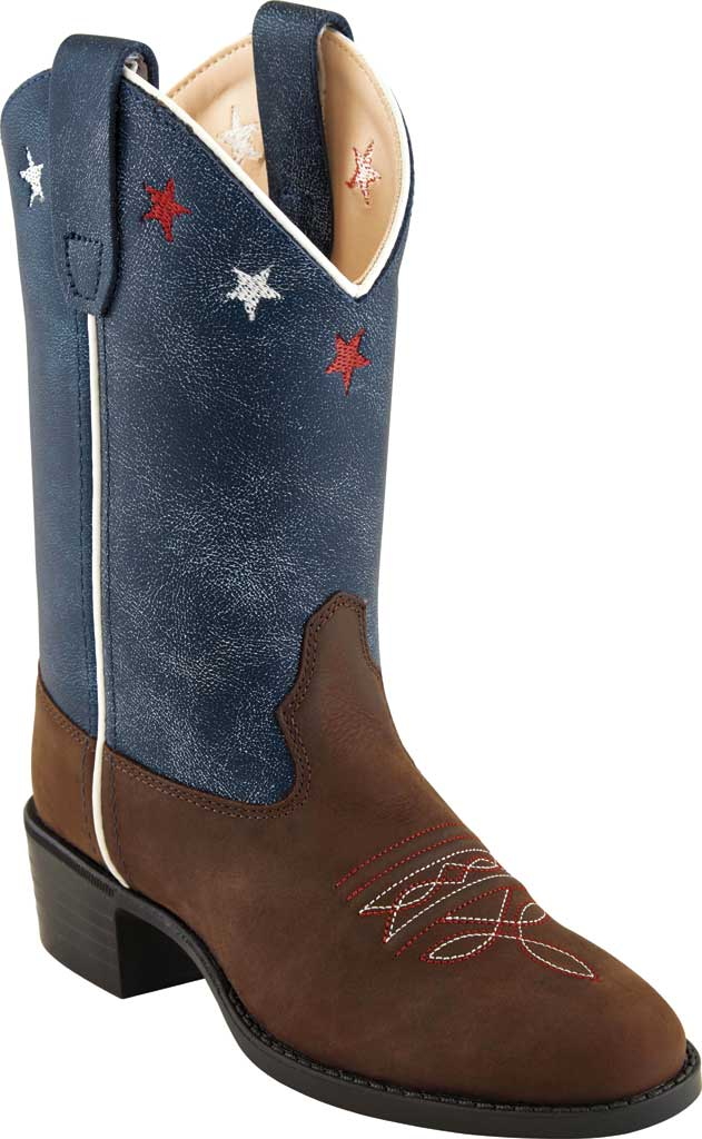 Children's Old West 9 Inch Round Toe Western Boot - Child, Brown Leather, large, image 1