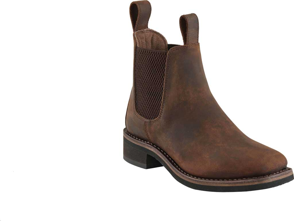 Boys' Old West 4.5 Inch Chelsea Boot - Child, Brown Leather, large, image 1