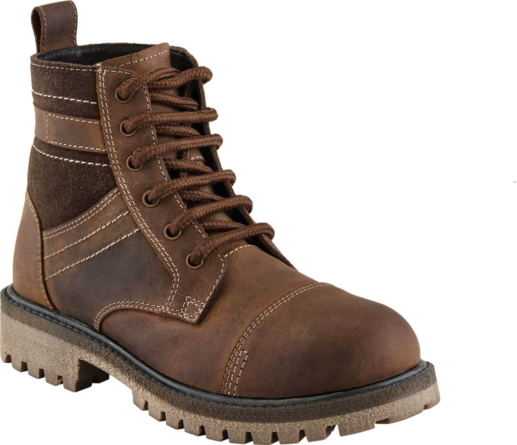 Boys' Old West 4 Inch Lace Up Outdoor Boot - Child, Brown Leather, large, image 1