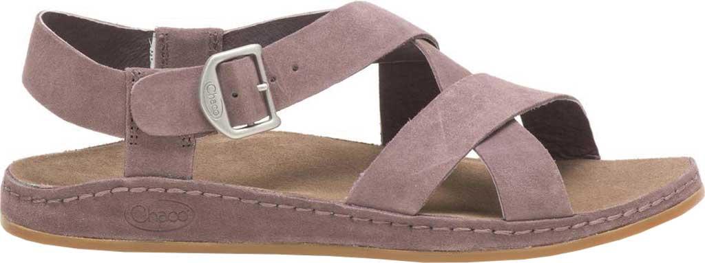 Women's Chaco Wayfarer Leather Sandal, Sparrow Suede, large, image 1
