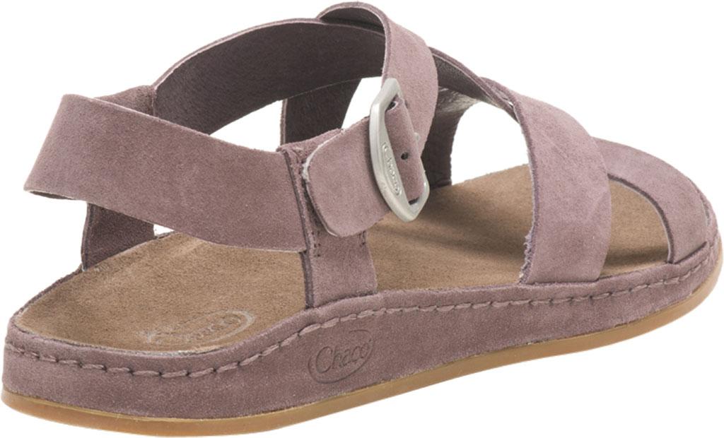 Women's Chaco Wayfarer Leather Sandal, Sparrow Suede, large, image 4