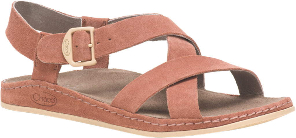 Women's Chaco Wayfarer Leather Sandal, Clay Suede, large, image 1
