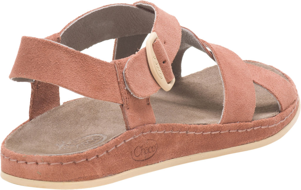 Women's Chaco Wayfarer Leather Sandal, Clay Suede, large, image 4
