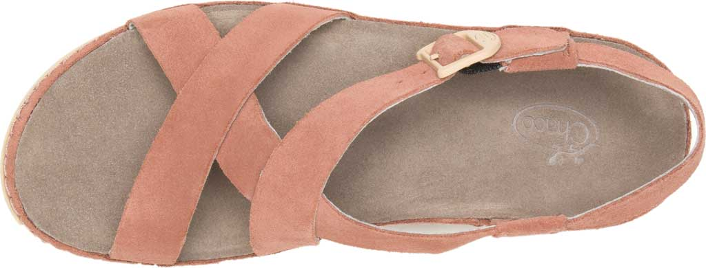 Women's Chaco Wayfarer Leather Sandal, Clay Suede, large, image 5
