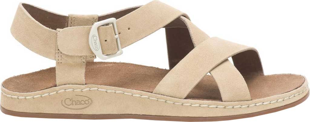 Women's Chaco Wayfarer Leather Sandal, Buff Suede, large, image 1