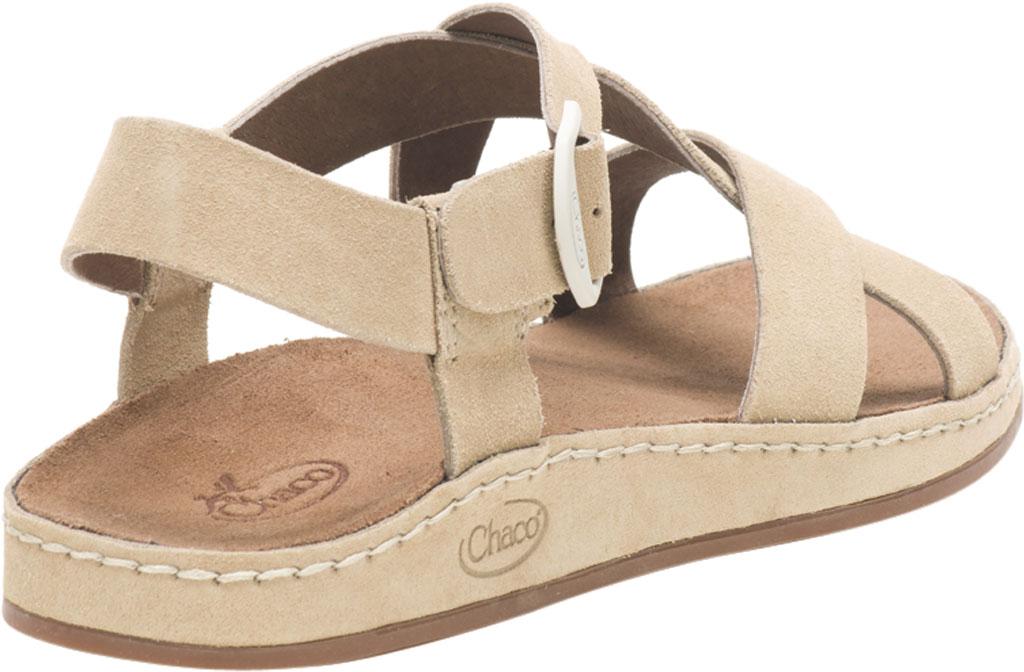 Women's Chaco Wayfarer Leather Sandal, Buff Suede, large, image 4
