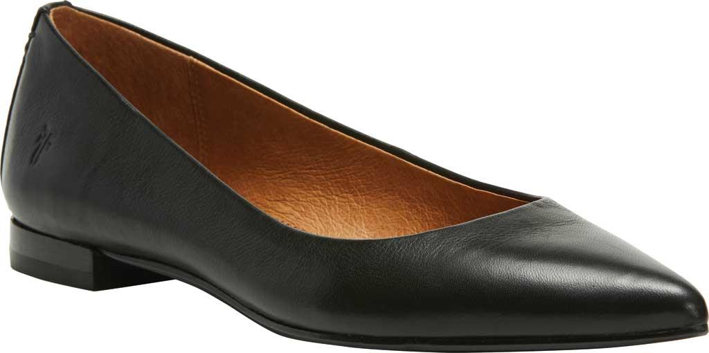 Women's Frye Sienna Ballet Flat, Black Leather, large, image 1