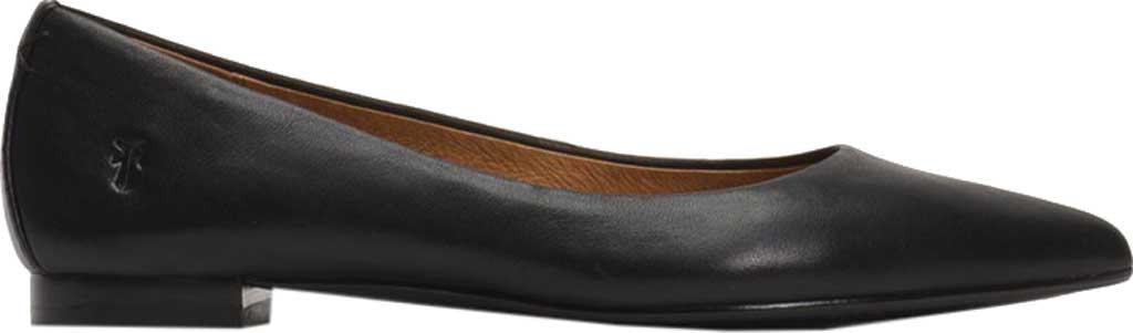 Women's Frye Sienna Ballet Flat, Black Leather, large, image 2
