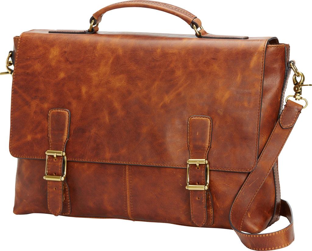 Men's Frye Logan Top Handle Briefcase, Cognac Leather, large, image 1