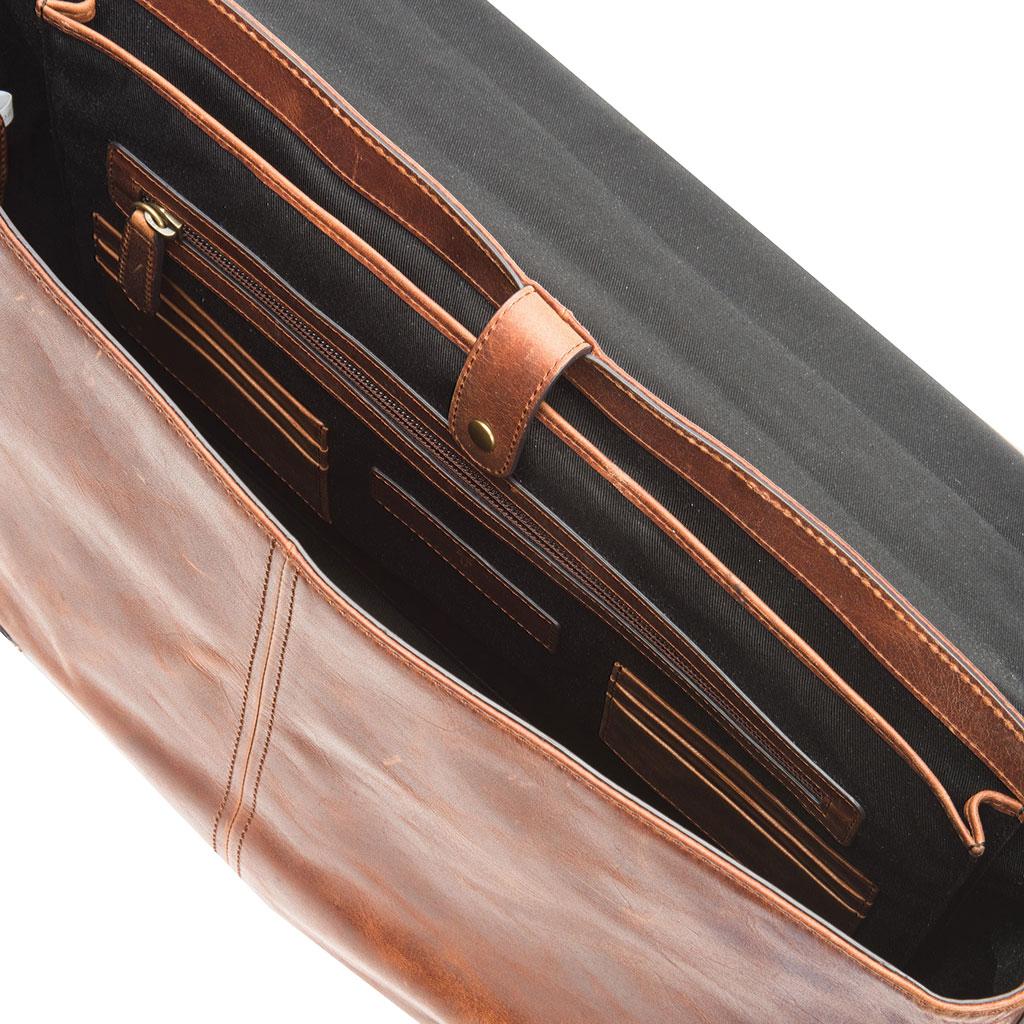 Men's Frye Logan Top Handle Briefcase, Cognac Leather, large, image 2