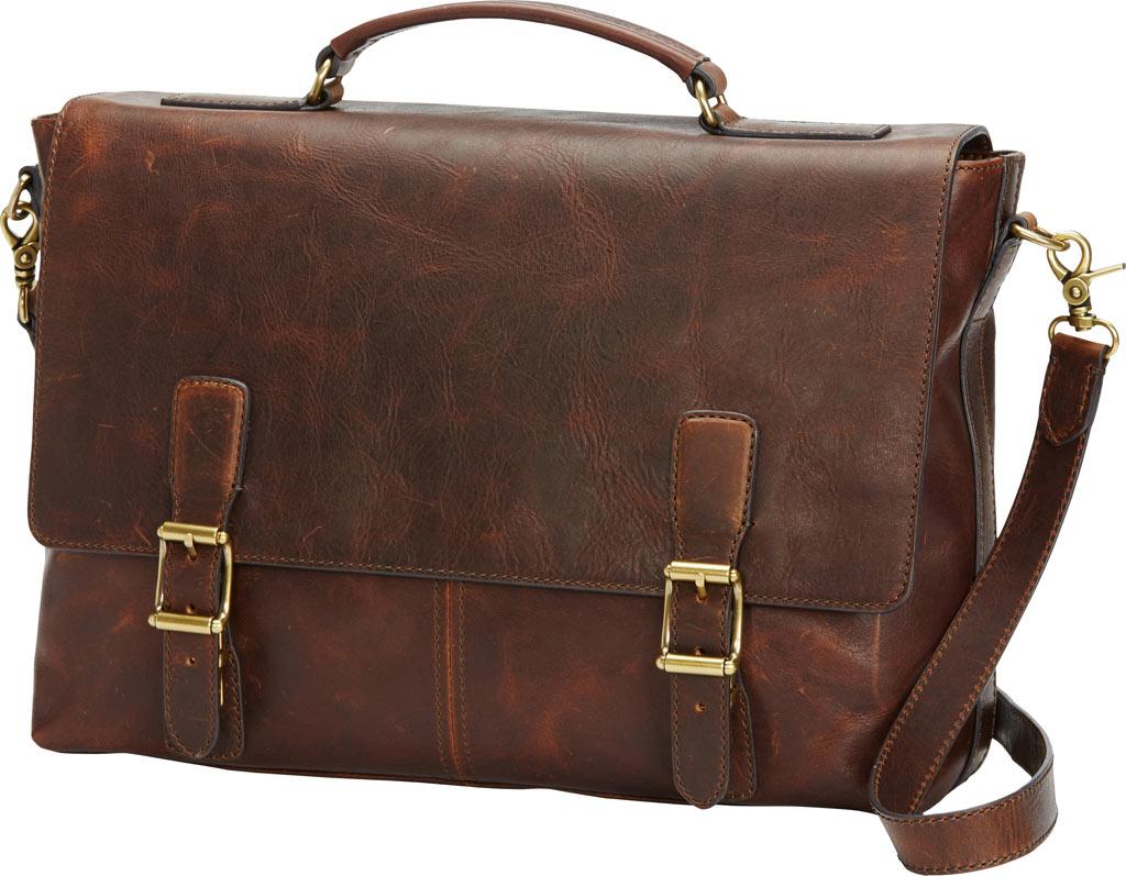 Men's Frye Logan Top Handle Briefcase, Dark Brown Leather, large, image 1