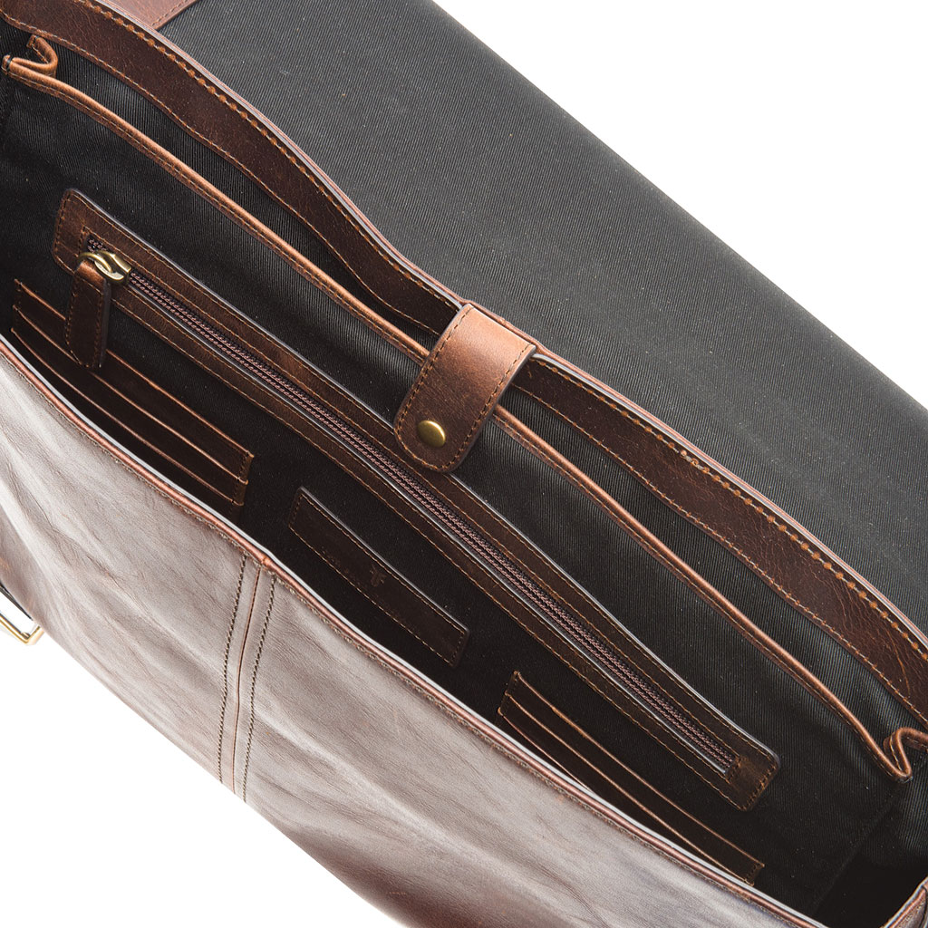 Men's Frye Logan Top Handle Briefcase, Dark Brown Leather, large, image 2