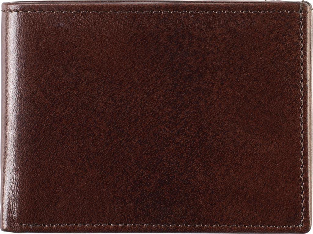 Men's Johnston & Murphy Super Slim Wallet, Brown Leather, large, image 1