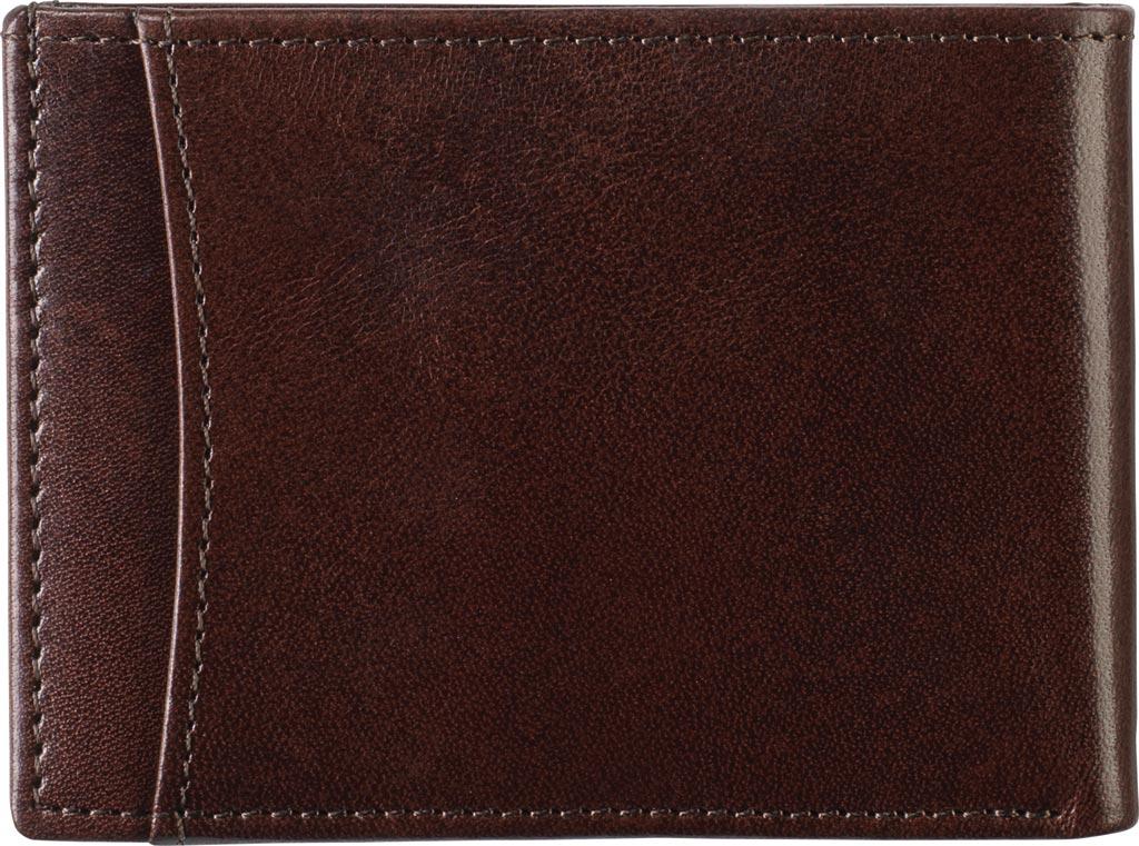 Men's Johnston & Murphy Super Slim Wallet, Brown Leather, large, image 2
