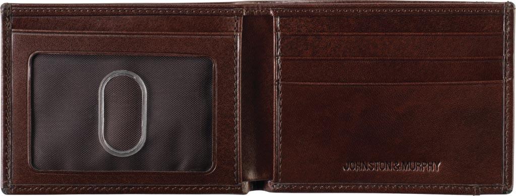 Men's Johnston & Murphy Super Slim Wallet, Brown Leather, large, image 3