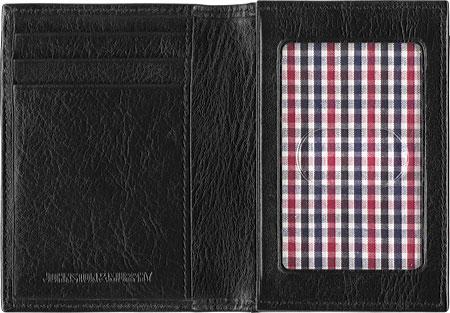 Men's Johnston & Murphy Full Gusset Card Case, Black1, large, image 2