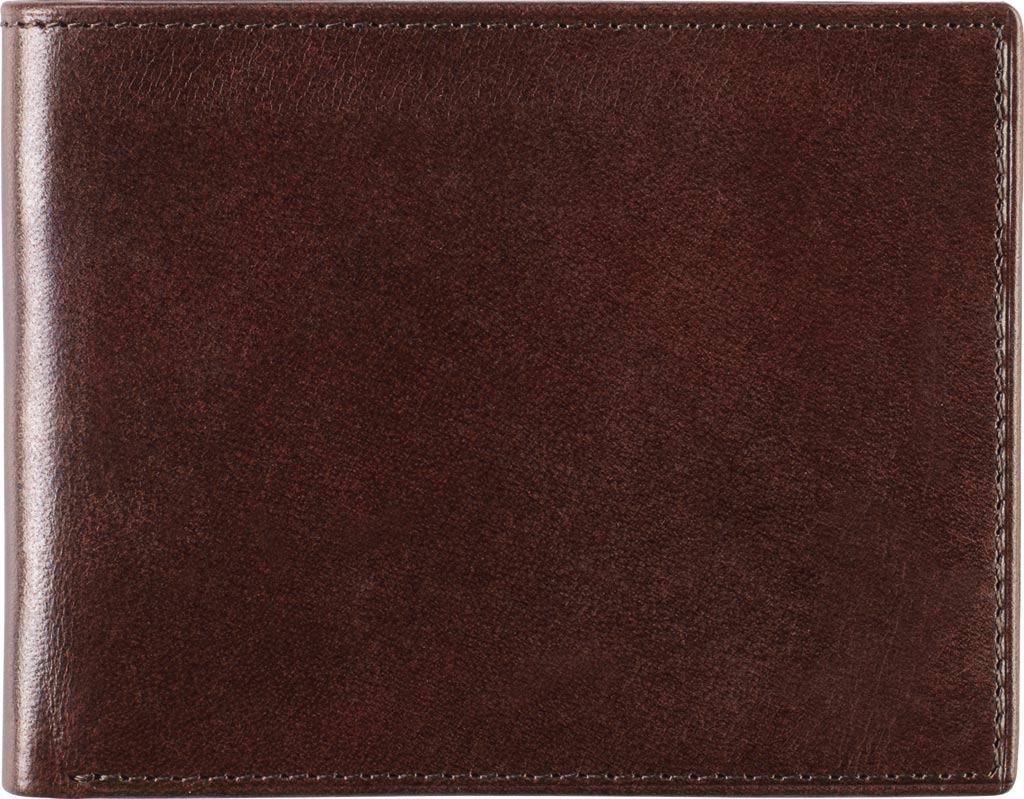 Men's Johnston & Murphy Slimfold Wallet, Brown Leather, large, image 1