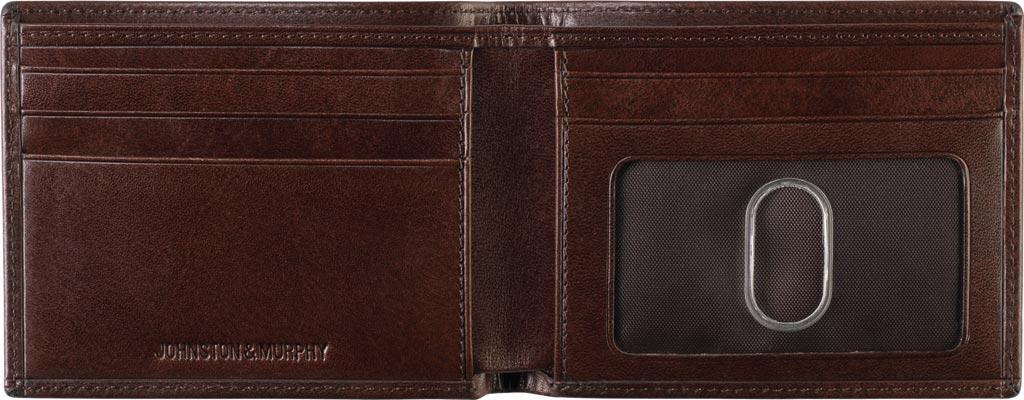 Men's Johnston & Murphy Slimfold Wallet, Brown Leather, large, image 2