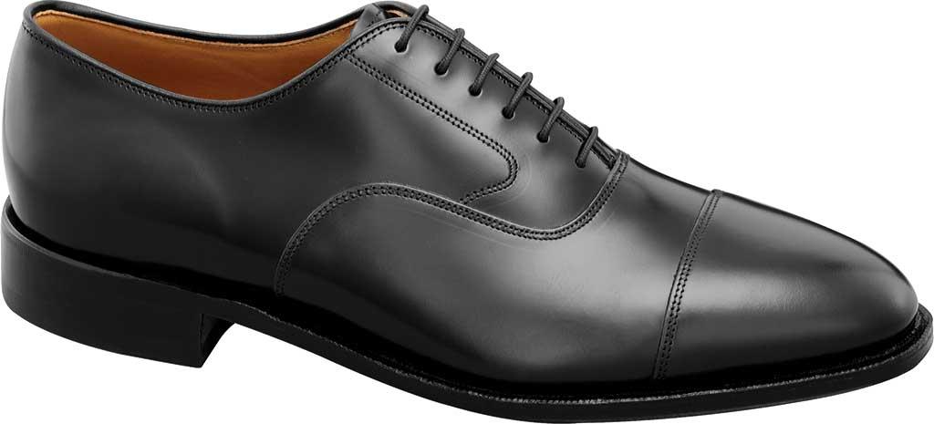 Men's Johnston & Murphy Melton Cap Toe Oxford, Black Brushed Calfskin, large, image 1